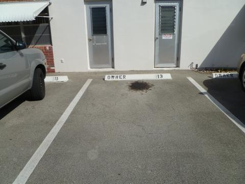 Assigned parking space
