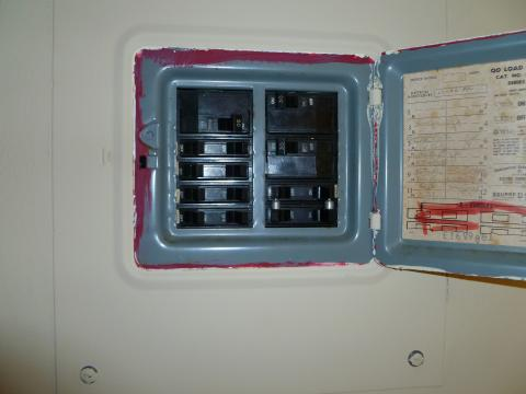 interior view of electricl panel